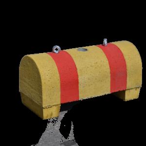 Betoniporsas 250 kg, läpivärjätty