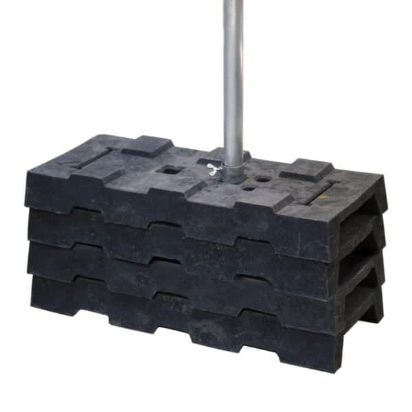 4 kpl 50 kg kumijalusta liikennemerkkiputkelle
