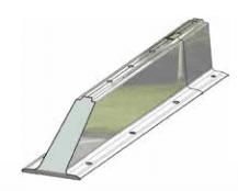Duo-Rail päätyelementti (K)