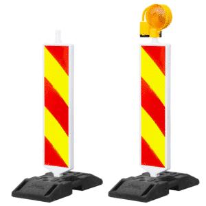 Liikenteenohjauspylväs varoitusvilkulla