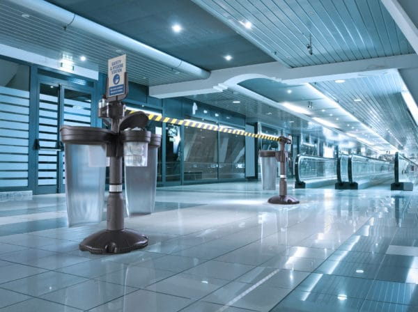Hygienia-asema lentokentällä