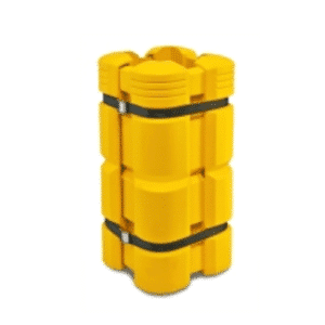 Pylvään törmäyspehmuste keltainen