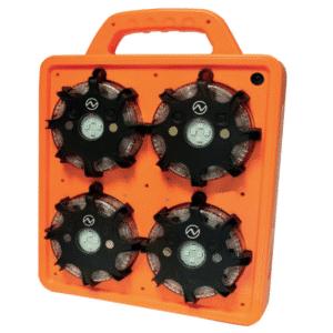 LED-valokiekkosarjan lataus- ja kantosalkku