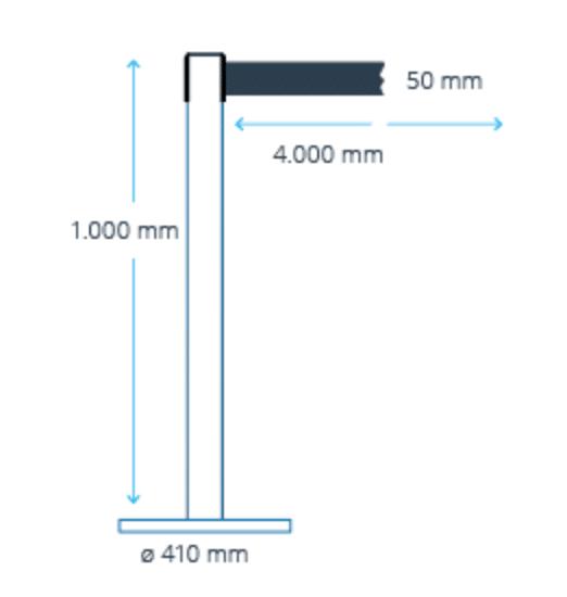 Nauhapylväs 5 cm leveällä nauhalla
