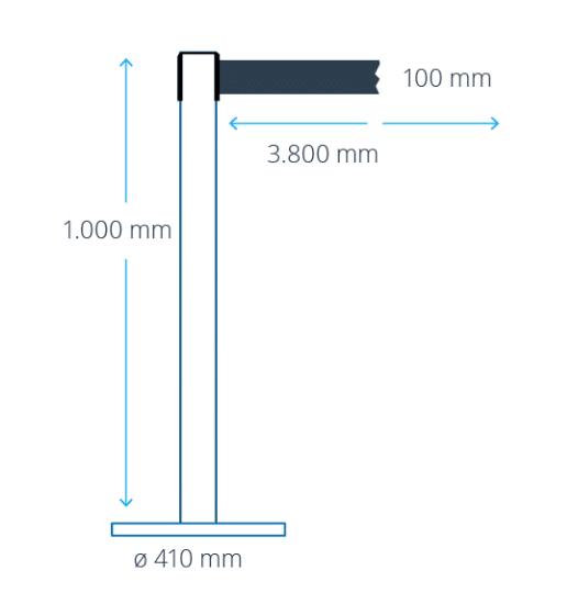 Nauhapylväs 10 cm leveällä nauhalla