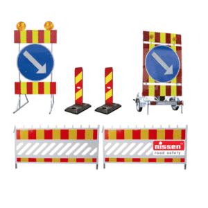 Työmaan sulku- ja varoituslaitteet