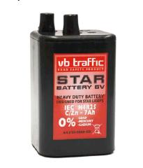 Työmaavilkun paristo - VB Star 7Ah