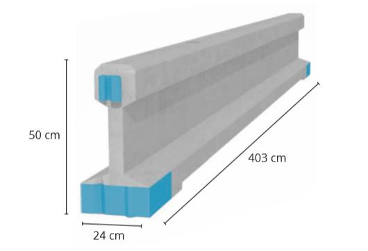 Rebloc-turvakaide (standardielementti)