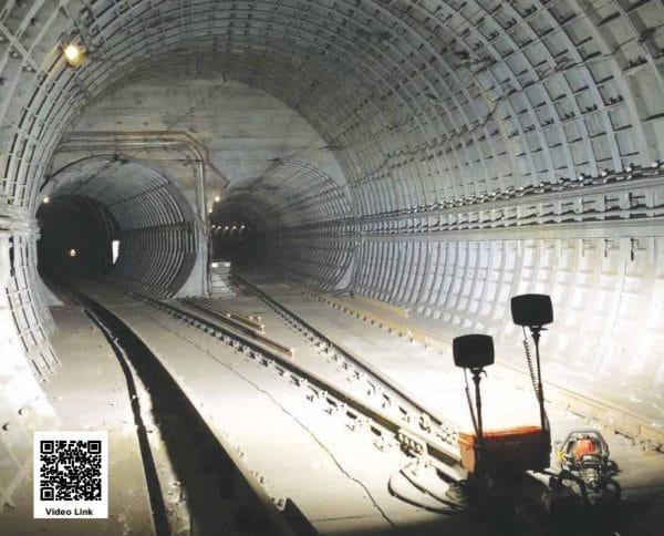 Valonheitin tunnelityömaalla